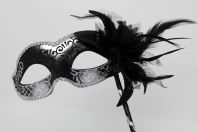 Black and Silver Flower Mask